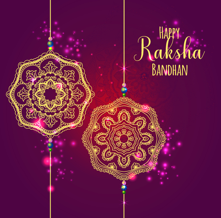 A graphic vector design for an Indian festival - Raksha Bandhan. Vector Illustration
