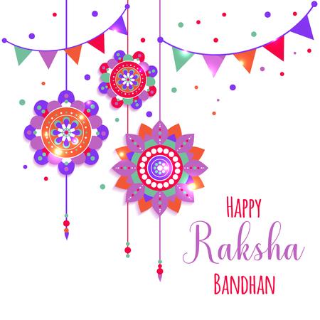 A graphic vector design for an Indian festival - Raksha Bandhan. 版權商用圖片 - 104757917