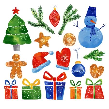 Christmas pictures set Banco de Imagens - 110717745