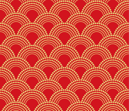 Chinese traditional oriental ornament background, red with gold pattern unless