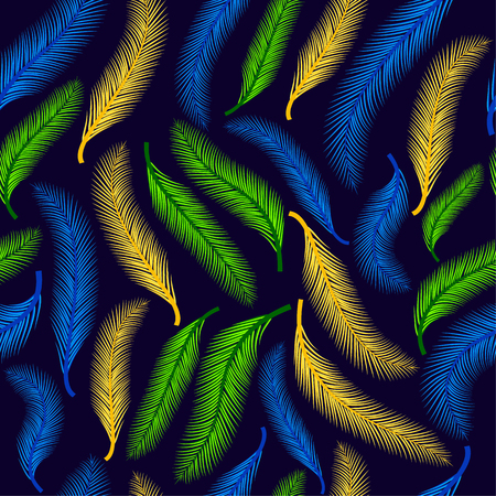 Feather on the dark blue.
