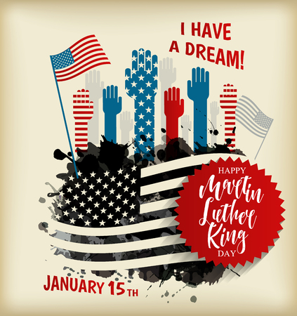 Martin Luther King Day flyer, banner or poster. Illustration
