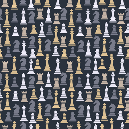 Seamless pattern with chess pieces.  イラスト・ベクター素材