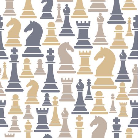 Nahtloses Muster mit Schachfiguren.
