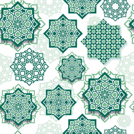 Festival graphic of islamic geometric art.