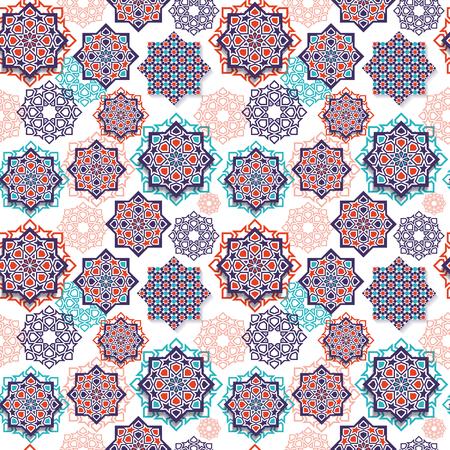 Festiwalowa grafika islamskiej sztuki geometrycznej.