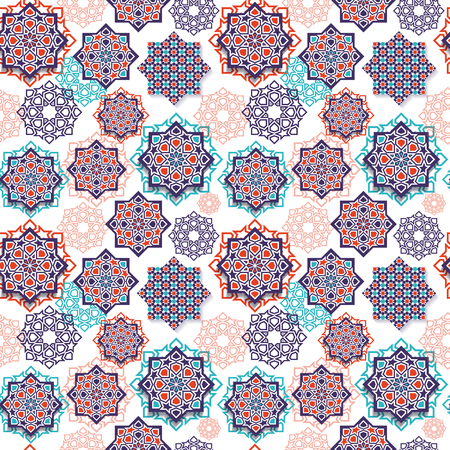 Festival graphic of islamic geometric art.