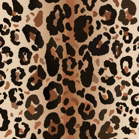 Seamless leopard wild nature pattern.