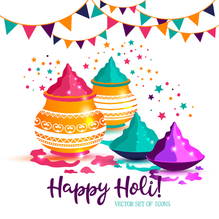 Indian Festival Of Happy Holi colorful