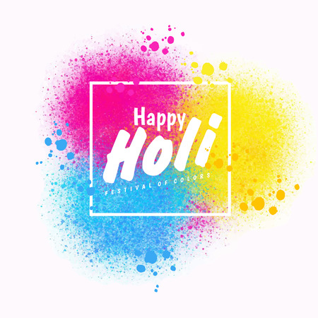 Holi spring festival of colors vector design element and sample text. Can use for banners