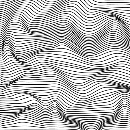 Abstract wavy stripes pattern. Beautiful geometric wave texture.