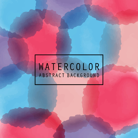 Vector pattern with watercolor painted circles.