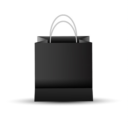 Shopping paper red bag empty-vector illustration. Illustration