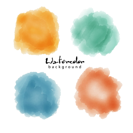 Watercolor soft circle texture. Vector watercoluor circle elements for design.