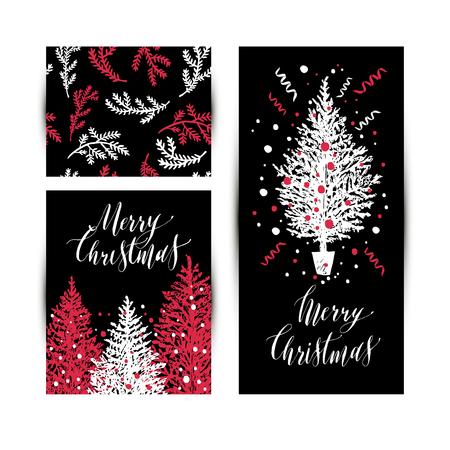 Christmas sketchy set. No transparency. No gradients.