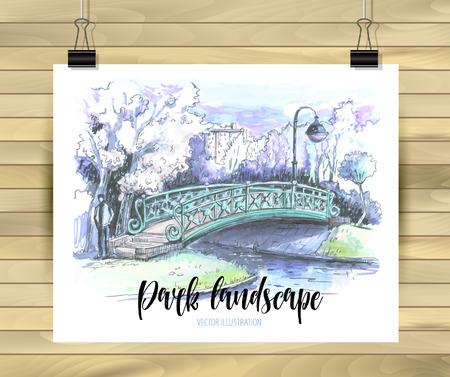 Bridge drawing.