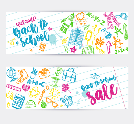 Back to school promo banner design.