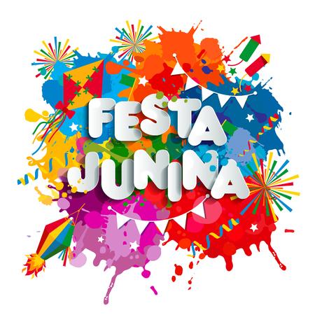 Festa Junina village festival in Latin America. 版權商用圖片 - 124158362