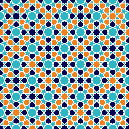 Seamless Islamic patterns in beige. Traditional muslim ornament. 일러스트