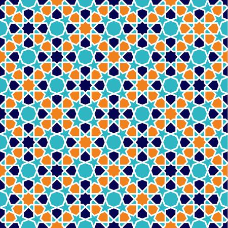 Seamless Islamic patterns in beige. Traditional muslim ornament. Illustration