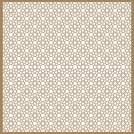 Seamless Islamic patterns in beige. Traditional muslim ornament. 向量圖像
