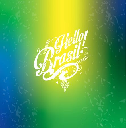 Hello summer Hello Brazil Abstract bur Stock Illustratie