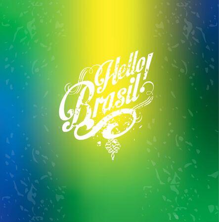 Hello summer Hello Brazil Abstract bur Illustration