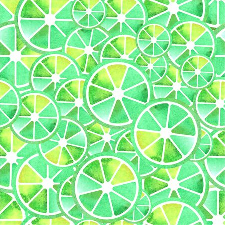 Seamless lime pattern in green colors surface Stock Photo