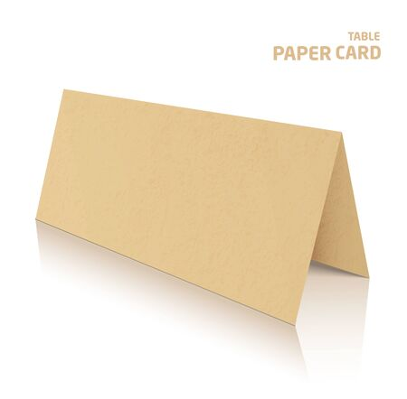 3d table paper craft card isolated on white 일러스트