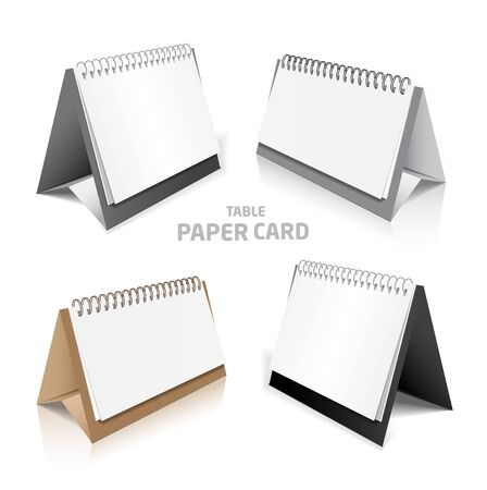 Blank calendar isolated on white 3d model set in color 向量圖像