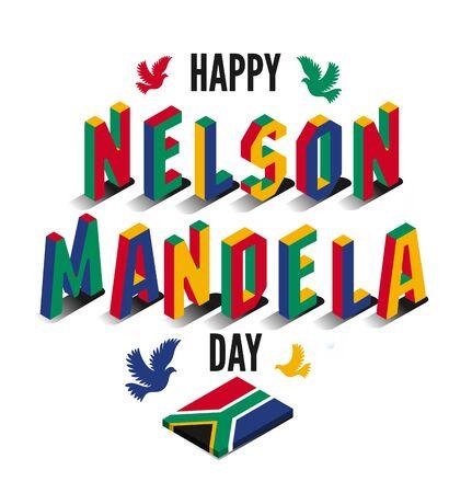 Vector illustration for International Nelson Mandela Day.