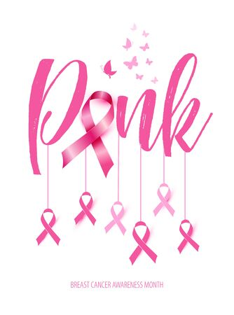 Breast cancer awareness concept illustration pink ribbon symbol