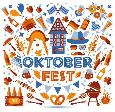 Oktoberfest flyer, banner.