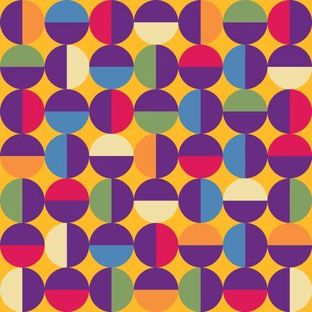 Vector seamless mid century absctract geometric pattern. Ilustração