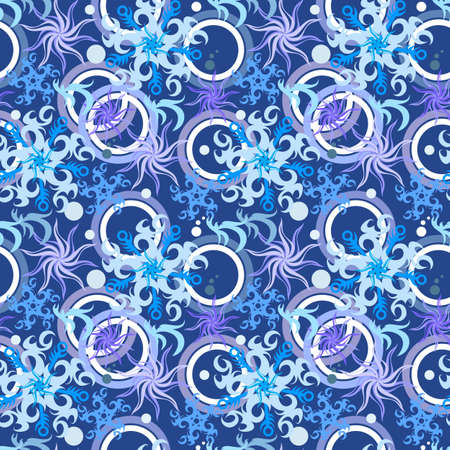 Seamless snowflakes winter pattern  illustration  Stock Vector - 16080890