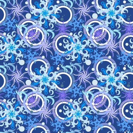 Seamless snowflakes winter pattern  illustration