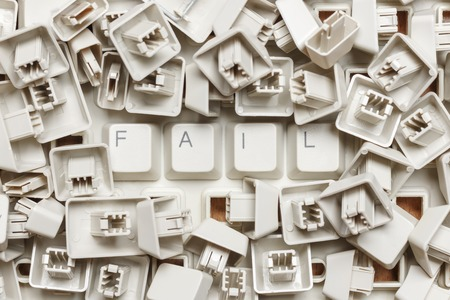 Word fail from a heap of computer keys
