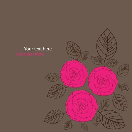 braun: vector flower background