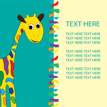 giraffe in vector format, birthday, holiday Stock Vector - 12638000