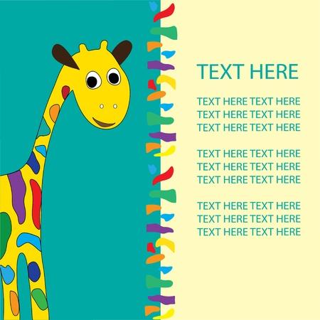 giraffe in vector format, birthday, holiday Stock Vector - 12638000