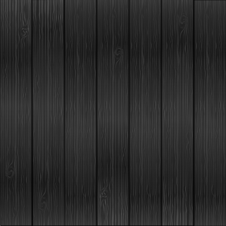 black textured background: vector realistic wood texture background, grey color Illustration