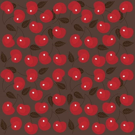Cherry seamless background Stock Vector - 13610575