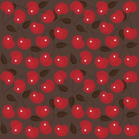 Cherry seamless background  Vector