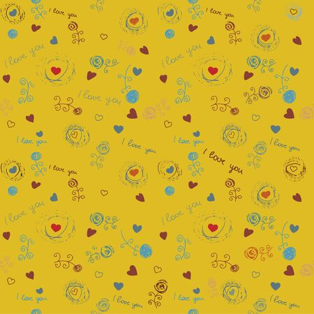 vintage flower seamless wallpaper, pattern, vecor image Vector