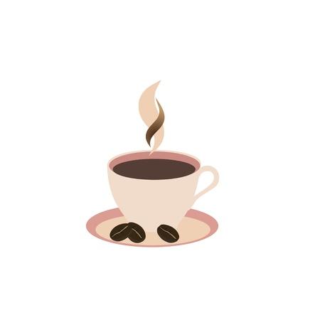 non alcohol: taza de caf� sobre fondo blanco