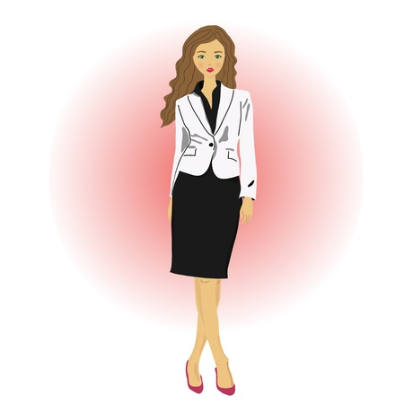 businesswoman wearing, standing in front background