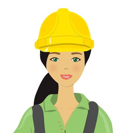 the girl in the yellow helmet, Stock Vector - 13777167