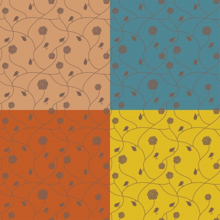 Stylish floral background, seamless wallpaper Stock Vector - 13835014