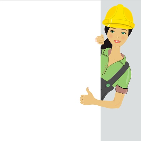 Blank sign - Construction Worker, vector image Stock Vector - 13910228