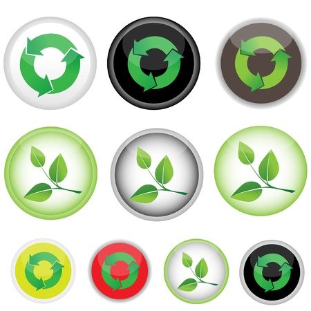 10 icons on the responsibility, vector image Vector